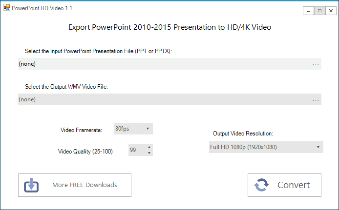 PowerPoint to HD Video