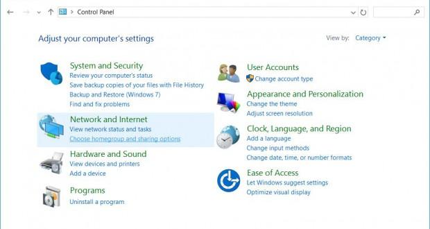 Windows 10 Classic Control Panel