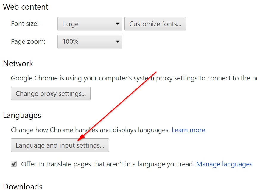 How to change google chrome language step 4