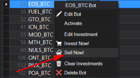 bitraptor crypto trading bot manual sell